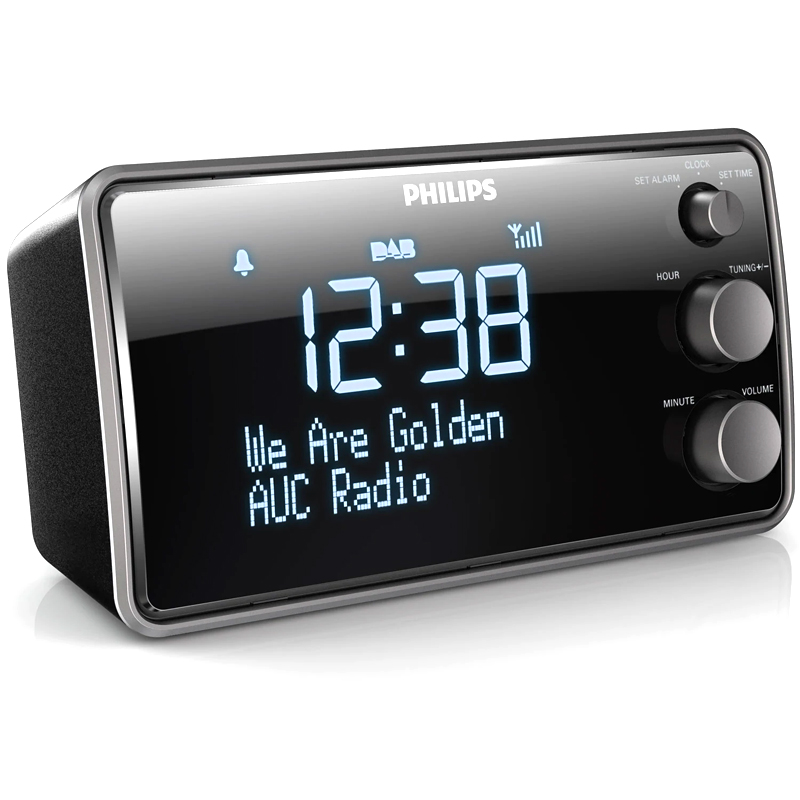 Philips AJB3552 Klockradio Stor LCD-skärm Svart